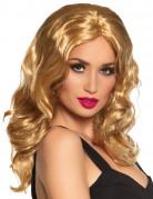Gewellte Langhaar-Damenperücke blond