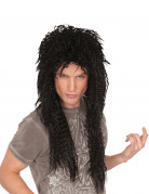 80er-Jahre Rockstar Perücke schwarz