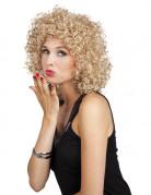 80er-Jahre Minipli Perücke blond