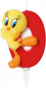 Looney Tunes™ Tortenkerze Zahl 0 Tweety Lizenzware