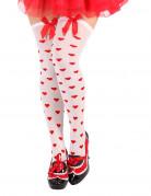 Damenstrumpfhose mit Herzen