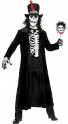 Hexen-Meister Halloween Kostüm für Herren schwarz-weiss