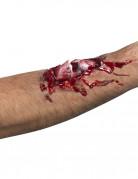 Halloween Horror Latex Applikation Offener Armbruch haut 19x10cm