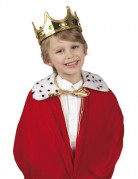 Kinderkrone König-Accessoire gold-bunt