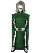 Gothic Manor Grab mit Skelett Kostüm schwarz-weiß-grün