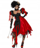 Böse Königin Teufelin Halloween Damenkostüm rot-schwarz