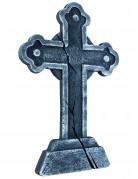 Friedhof Grabstein Kreuz Halloween Party-Deko grau 60x40cm