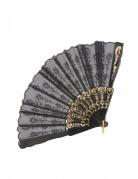 Kostümfächer Damenkostüm Accessoire schwarz 43x23cm