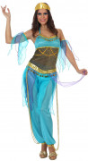 Orientalische Prinzessin Damenkostüm blau-gold