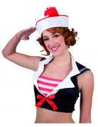 Matrosen-Mütze rot-weiss