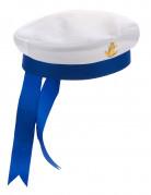 Matrose Bootsmann Seefahrermütze weiss-blau