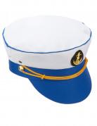 Matrosen-Cap für Damen blau-weiss-gold