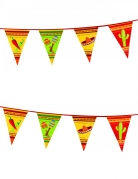 Mexiko-Wimpelgirlande Party-Deko grün-gelb-rot 6m