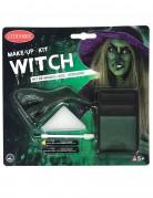 Hexen-Schminkset Halloween-Make-up 7-teilig grün-schwarz