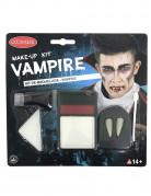 Vampir Make-Up Schminke Halloween schwarz-rot-weiss