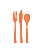 Kunstoff Besteck-Set 18-teilig orange