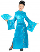 Bezauberndes Geisha Kinder-Kostüm blau