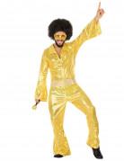 70er Jahre Disco-Kostüm für Herren gold