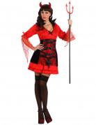 Sexy Dämonin Halloween-Damenkostüm rot-schwarz
