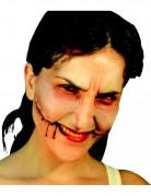 Künstliche Zombie-Wunde beige-rot