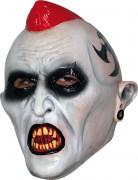 Untoter Punker Halloween-Maske weiss-schwarz-rot