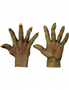 Monster-Handschuhe Kostümzubehör grün
