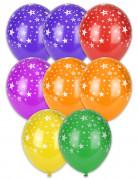 Party Dekoration Luftballons mit Sternmotiv 8 Stück bunt 27 cm