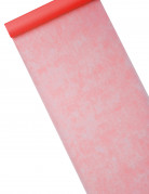 Schlichter Tischläufer Vlies rot 10m