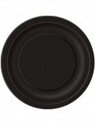Party-Teller runde Teller 16 Stück schwarz 22cm