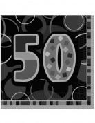 Servietten 50 Jahre 16 Stück schwarz-grau