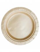 Party Pappteller 20 Stück gold 18cm