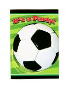 Fussball-Einladungskarten 8 Stück bunt