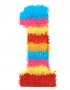 Piñata Zahl 1 Partydeko bunt