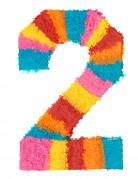 Piñata Zahl 2 Partydeko bunt