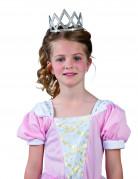 Süße Prinzessinnen Krone für Kinder silber