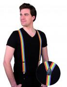 Regenbogen-Hosenträger Kostümzubehör bunt