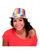 Pailletten-Hut Regenbogen-Damenhut bunt