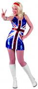 Damenkostüm Großbritannien blau/rot/weiß
