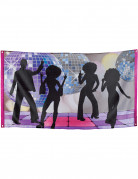 70er-Jahre Disco-Banner Party-Deko bunt 90x150cm