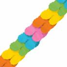 Papier-Girlande Party-Deko bunt 3,65mx18cm