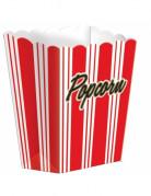 Retro Popcorn Süssigkeiten-Box Partydeko 8 Stück weiss-rot 9,5x13cm