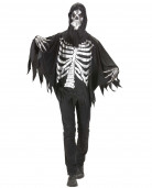Skelett-Robe Halloween-Herrenkostüm schwarz-silber