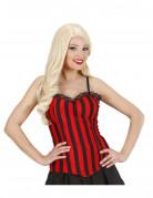 20er Showgirl Korsage rot-schwarz