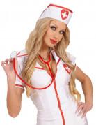 Krankenschwester Stethoskop Kostümaccessoire rot