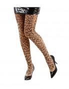 Strumpfhose Leopard Kostümaccessoire braun
