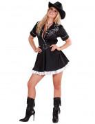 Cowgirl Damenkostüm Rodeo schwarz-weiss