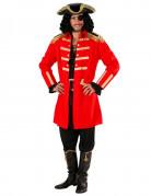 Rotes Piratenkapitän-Kostüm für Herren