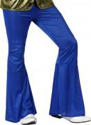 70er Jahre Disco Schlaghose für Herren blau