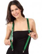 Hosenträger mit Pailletten Kostümaccessoire grün