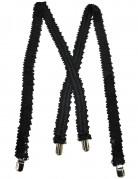 Pailletten-Hosenträger Kostüm-Accessoire schwarz